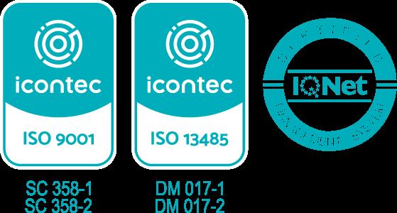 certificado de calidad productos odontológicos icontec iso 9001 y 13485