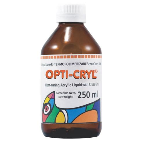 resina acrilica opti-cryl termopolimerizable