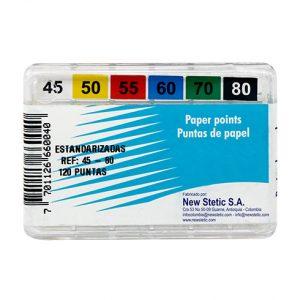 puntas de papel conductos radiculares pieza dental