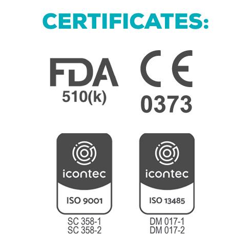 certificates fda ce discs pmma