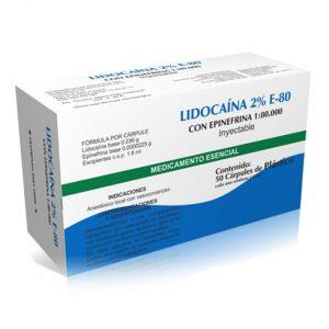 lidocaina e-80 anestesico dental