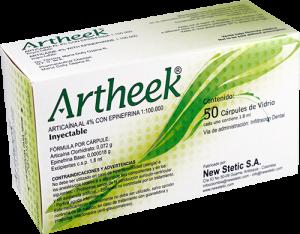 caja artheek anestésico dental
