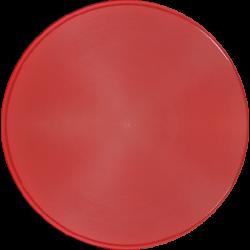 disco pmma rojo calcinable