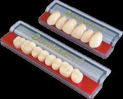 plaquetas dientes acrílicos duratonen
